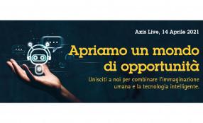 Prenota subito il tuo posto per Axis Live 2021, un evento in formato digitale e in diretta, in programma il prossimo 14 aprile